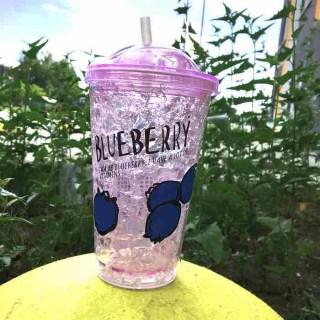 Ледяной стакан «BLUEBERRY» с трубочкой купить в  Минске +375447651009