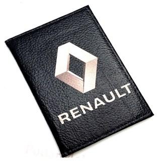 Обложка для автодокументов «RENAULT» кожаная Минск +375447651009