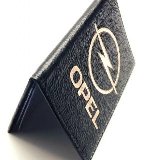 Обложка для автодокументов «OPEL» натуральная кожа Минск +375447651009