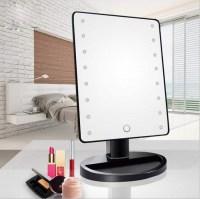 Зеркало с подсветкой для макияжа черное купить