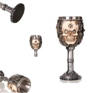 Бокал на ножке 3D «Череп механик» 200 мл купить Минск +375447651009