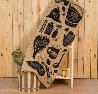Банное полотенце «Секреты хорошего банщика» 60х146 см купить в Минске +375447651009