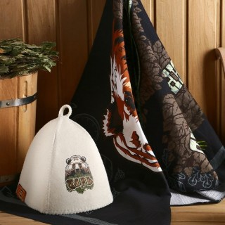 Банный набор «Царь» шапка и полотенце купить в Минске +375447651009