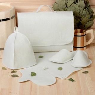 Банный набор в портфеле 5 в 1 светлый купить в Минске +375447651009