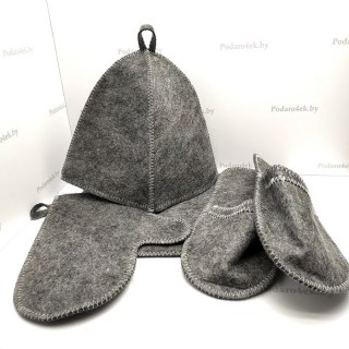 Банный набор в портфеле «БАННЫЙ BOSS» 5 в 1 серый Минск +375447651009