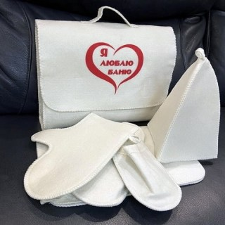 Банный набор в портфеле «Я люблю баню» 5 в 1 Минск +375447651009