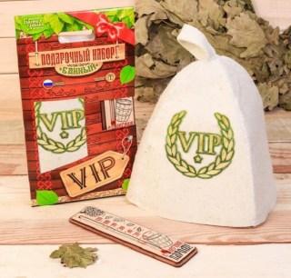 Банный набор «VIP» термометр, шапка купить в Минске +375447651009
