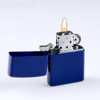 Бензиновая зажигалка «Классика» синяя купить в Минске +375447651009
