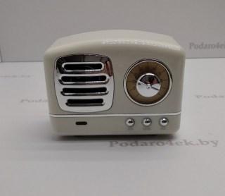 Беспроводная музыкальная колонка «Ретро радио» белая купить в Минске +375447651009
