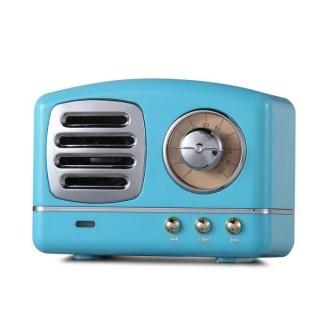 Беспроводная музыкальная колонка «Ретро радио» голубая купить в Минске +375447651009