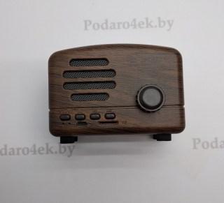 Беспроводная музыкальная колонка «Ретро радио» bto1 коричневая купить в Минске +375447651009