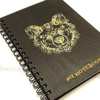 Блокнот в деревянной обложке «Мишка» + ручка Минск +375447651009