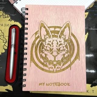 Блокнот в деревянной обложке «Зай Чо» + ручка Минск +375447651009