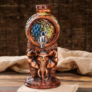 Бочка для напитков с краном «Слоны» 1,8 литра Минск +375298651009