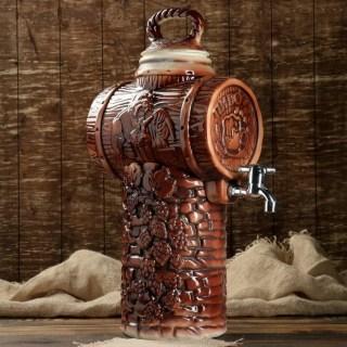 Бочка для пива с краном «Бар» 6 литров темная Минск +375298651009