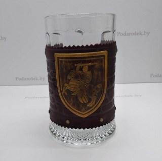 Бокал в кожаном чехле «Пагоня» купить в Минске +375447651009