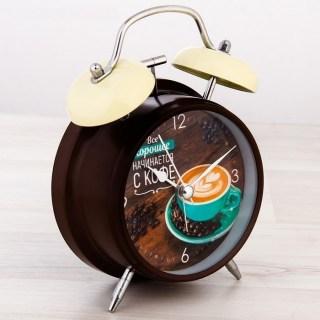 Будильник «Чашечка кофе» d= 11 см купить Минск +375447651009