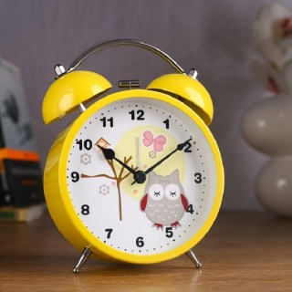 Будильник «Совушка» желтый d=11,5 см  купить в Минске +375447651009