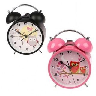 Будильник «Совушки» розовый d=11,5 см купить в Минске +375447651009