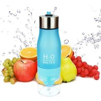 Бутылка для воды с соковыжималкой «H2O Drink More Water» бирюзовая купить Минск