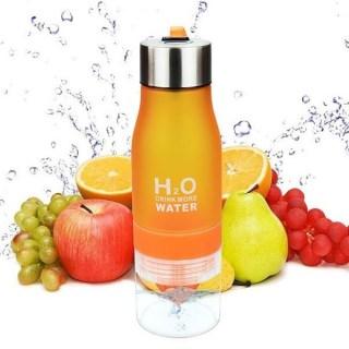 """Бутылка для воды """"H2O Drink More Water"""" оранжевая купить Минск"""