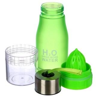 Бутылка для воды с соковыжималкой «H2O Drink More Water» зеленая купить Минск