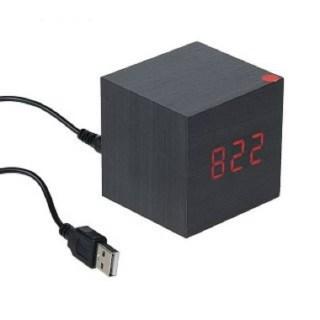 Часы деревянный кубик купить в Минске