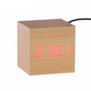 Часы «Деревянный кубик» купить в Минске