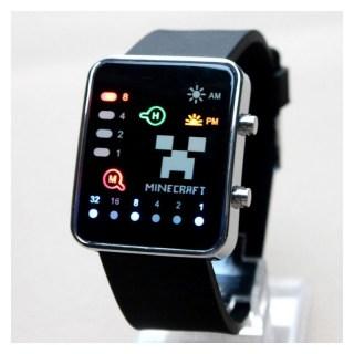 Часы наручные «Minecraft» (Майнкрафт) черные купить в Минске +375447651009