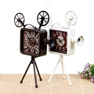 Часы в стиле LOFT «Камера» белые купить в Минске +375447651009