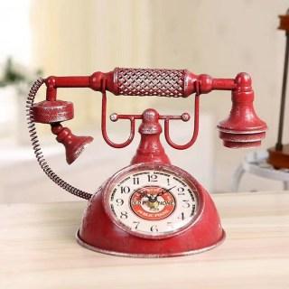 Часы в стиле LOFT «Телефонный аппарат» купить в Минске +375447651009