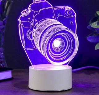 Cветильник с эффектом 3d «Фотоаппарат» купить Минск +375447651009