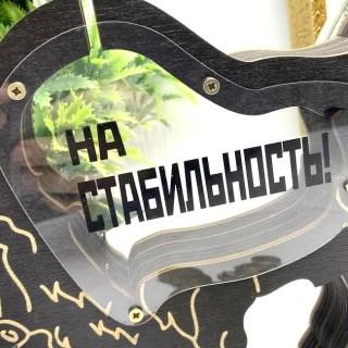 Деревянная копилка БЫК «На стабильность» цвет: венге Минск +375447651009