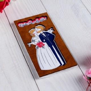 Деревянный конверт для денег «Совет да любовь» купить в Минске +375447651009