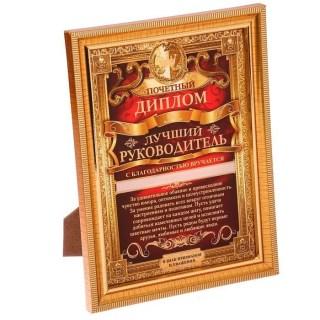 Диплом «Лучший руководитель» купить в Минске +375447651009