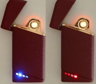 Электронная USB-зажигалка «LIGHTER» лиловая Минск +375447651009