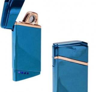 Электронная USB-зажигалка «LIGHTER» синяя Минск +375447651009