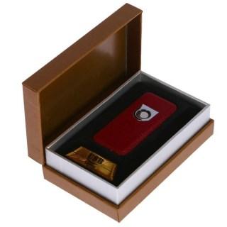 Электронная зажигалка «HENG BANG» с зарядкой от USB (бордовая) +375447651009