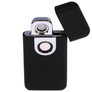 Зажигалка «HENG BANG» с зарядкой от USB (черная) +375447651009