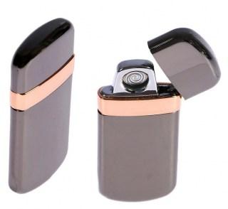 Электронная зажигалка USB «JINLUN» черный металлик Минск