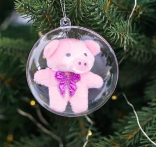 Елочный шар-талисман «Свинка Рублик» купить в Минске +375447651009