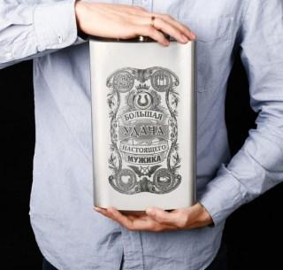 Фляжка-гигант «Большая удача настоящего мужика» купить в Минске +375447651009
