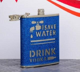 Фляжка подарочная «Берегите воду» 210 мл купить Минск +375447651009