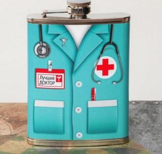 Фляжка сувенирная «Лучший доктор» 240 мл. купить в Минске +375447651009