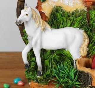 фонтан декоративный белогривая лошадка