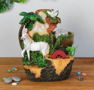 Фонтан декоративный «Белогривая лошадь» с подсветкой Минск +375447651009