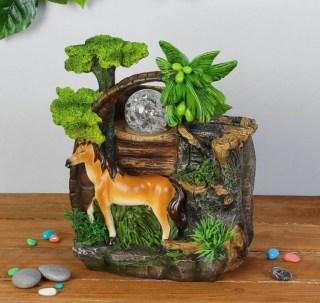 фонтан декоративный жеребец на прогулке купить в Минске +375447651009