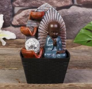 Фонтан декоративный «Будда медитирует» световой купить в Минске +375445811290