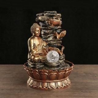 Фонтан декоративный «Будда у водопада» световой купить в Минске +375447651009