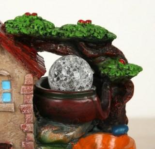 Фонтан декоративный «Дом с башней» световой купить Минск +375447651009